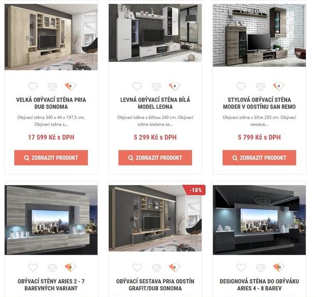 DonaShop obývací stěny