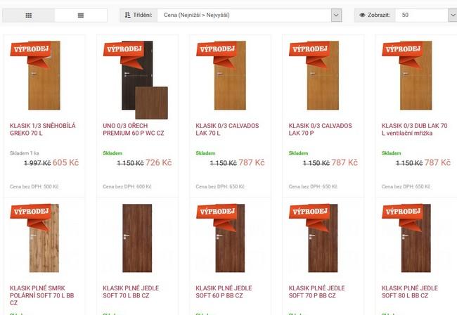 Dveře Erkado výprodej
