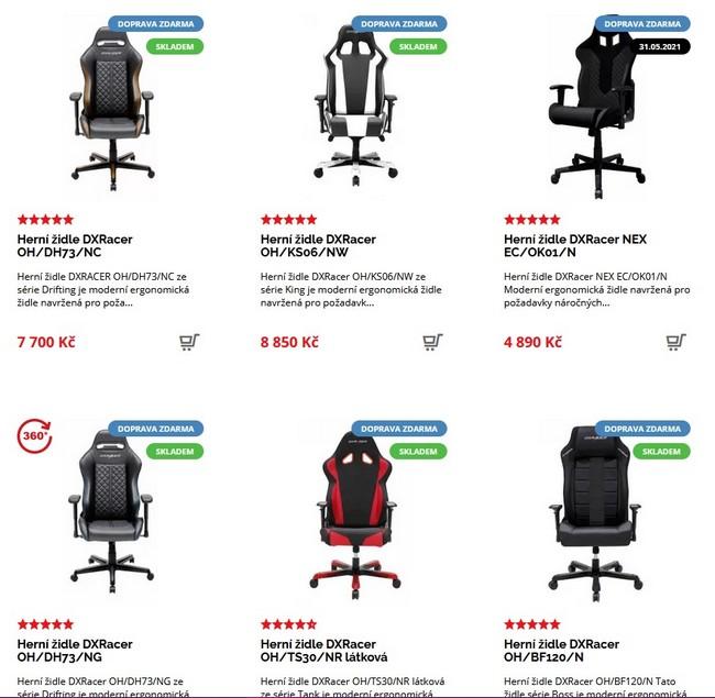 DX Racer manažerské židle