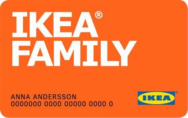 Ikea family karta