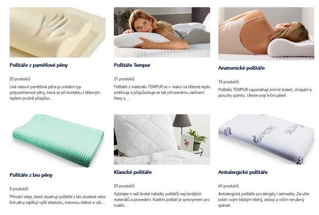 Pro spánek polštáře