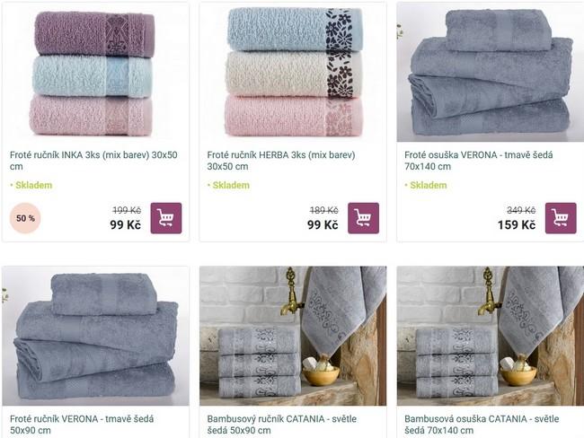 Rodinné balení ručníky a osušky