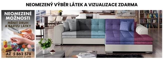Sedačky nábytek viualizace