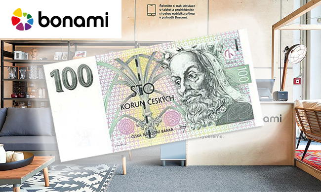 100 Kč slevový kupon do eshopu Bonami