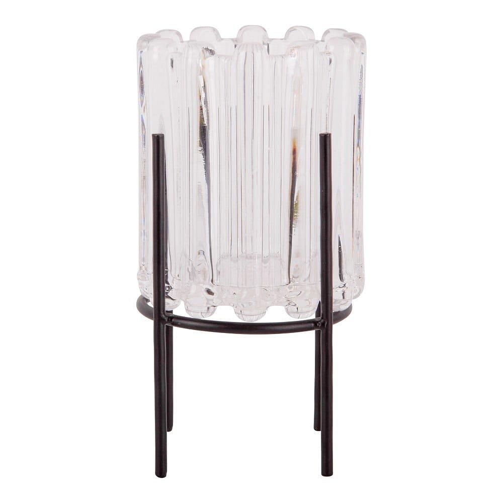 Transparentní svícen PT LIVING Lines, výška17,5cm