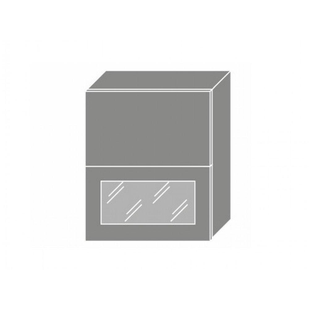 TITANIUM, horní skříňka W8B 60 AV WKF, korpus: lava, barva: fino bílé