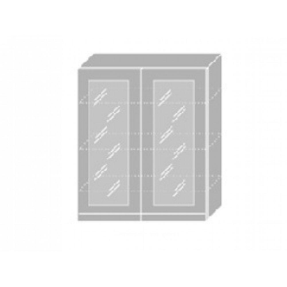EMPORIUM, skříňka horní prosklená W4S 80, korpus: bílý, barva: grey stone