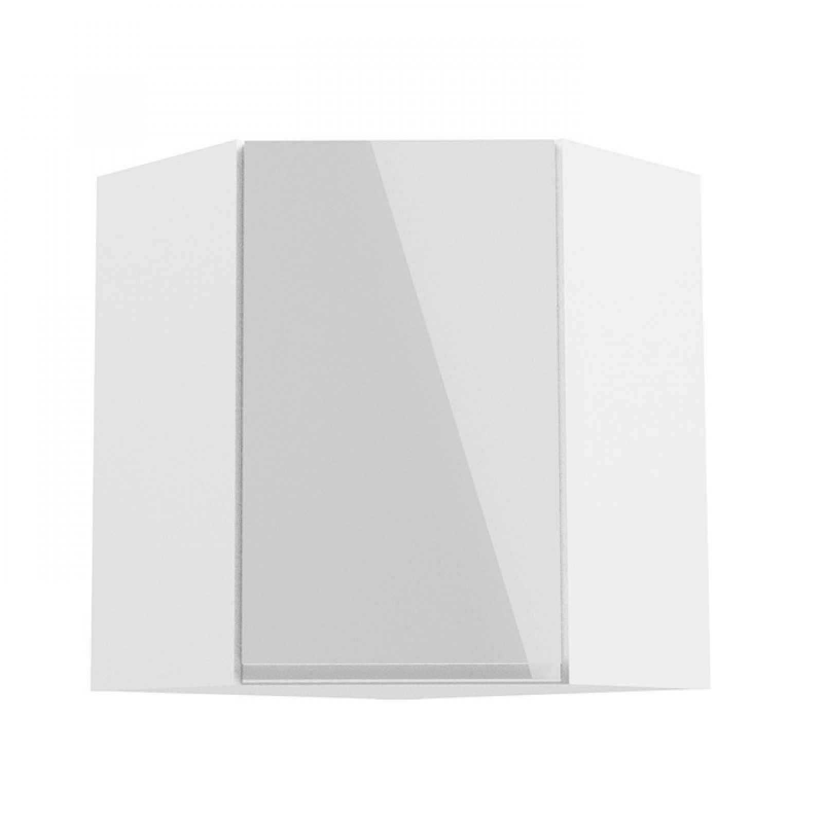 Horní rohová skříňka AURORA G60N Tempo Kondela Bílá
