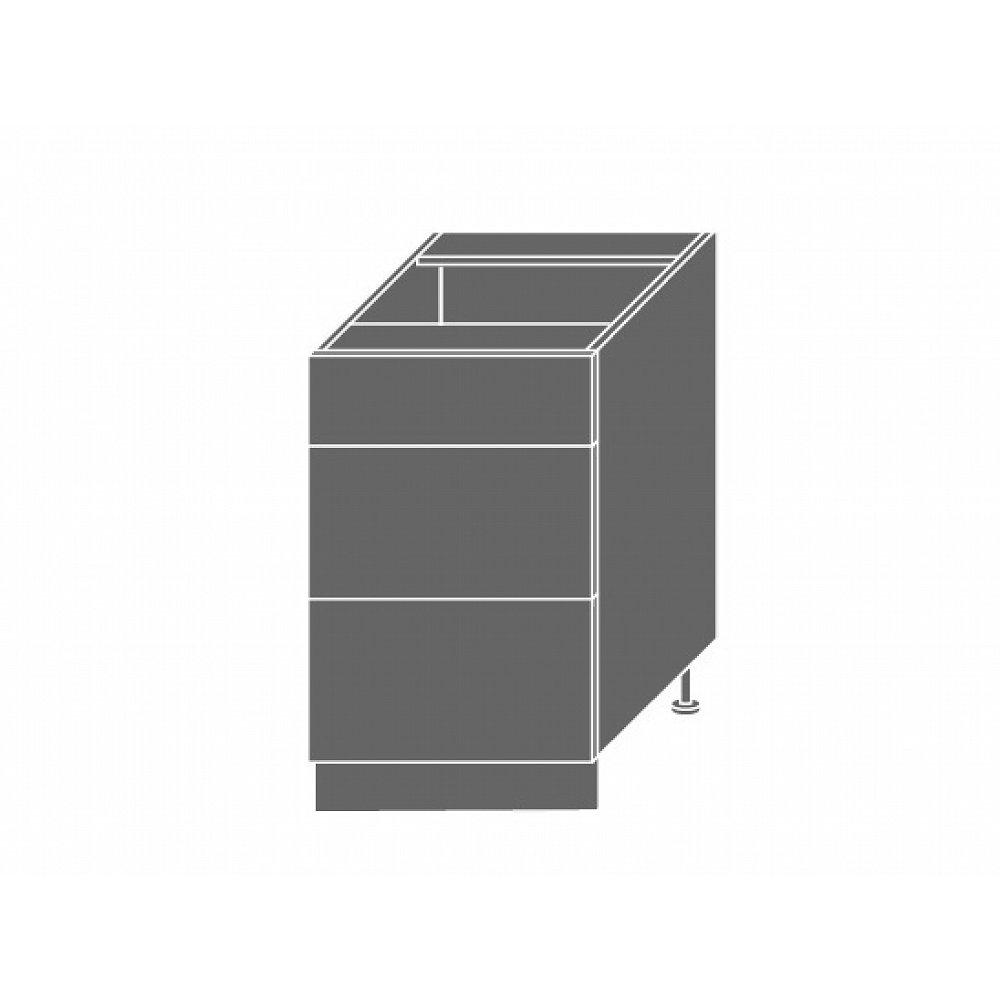 EMPORIUM, skříňka dolní D3m 50, korpus: bílý, barva: light grey stone