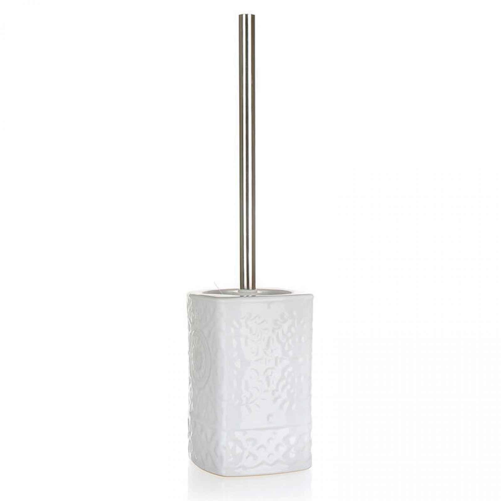 WC štětka keramická bílá