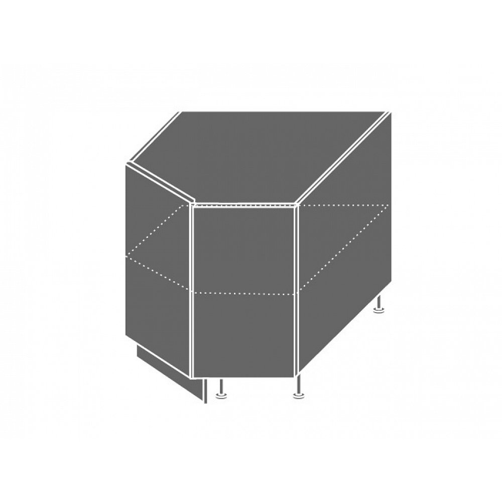 EMPORIUM, skříňka dolní rohová D12R 90, korpus: grey, barva: grey stone