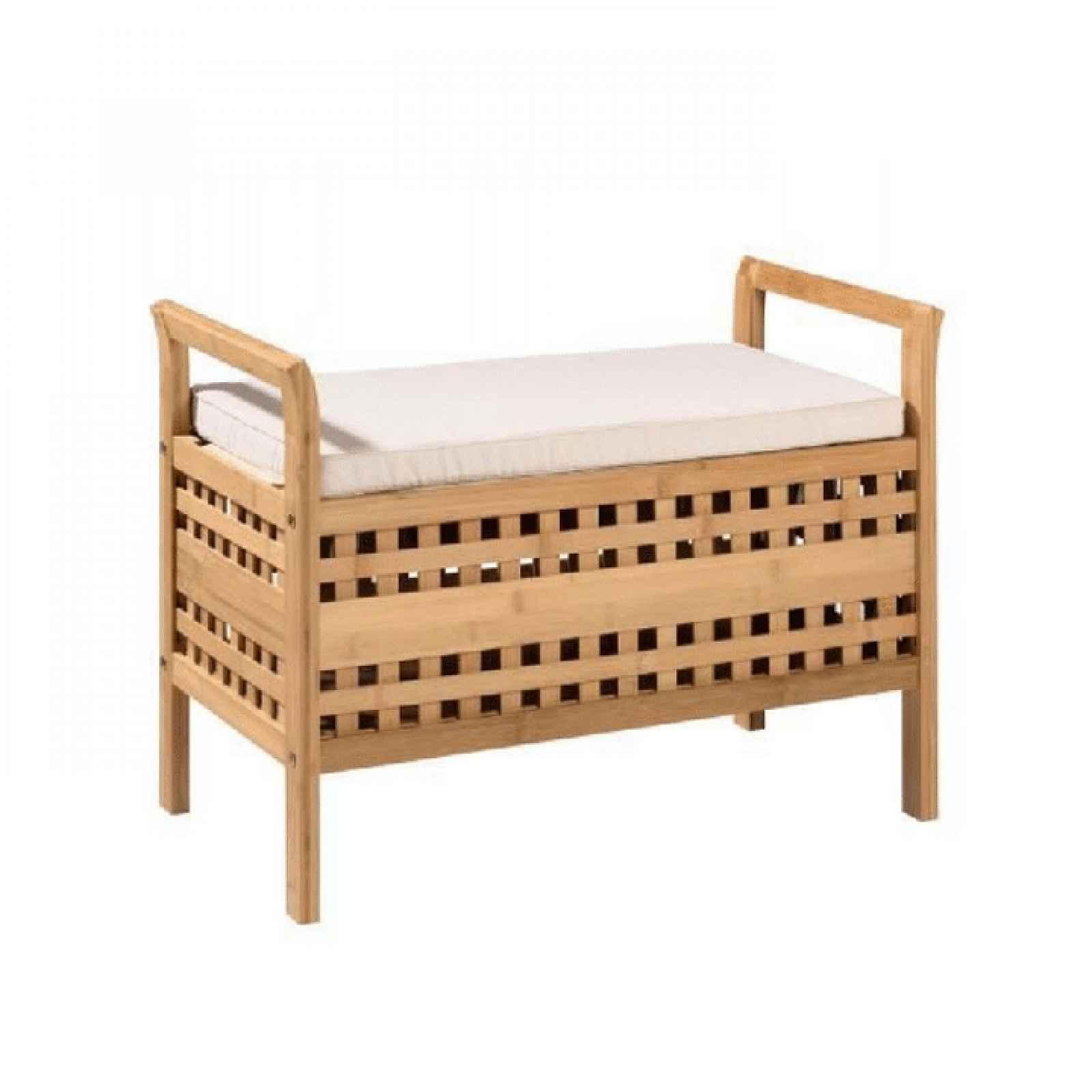 Lavice, bambus přírodní / béžová, TOLOSA 0000233680 Tempo Kondela