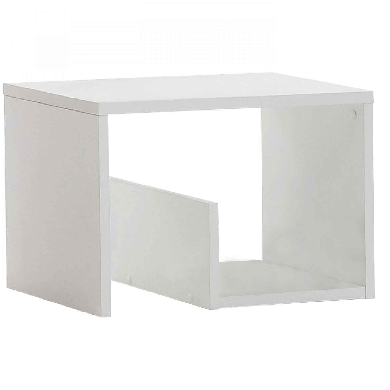 Příruční stolek, bílá, VOLKER 0000235874 Tempo Kondela