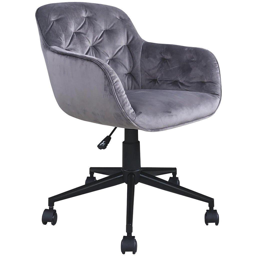 Landscape Otočná Židle, Šedá, Černá, Samet - Otočné židle - 000880000502