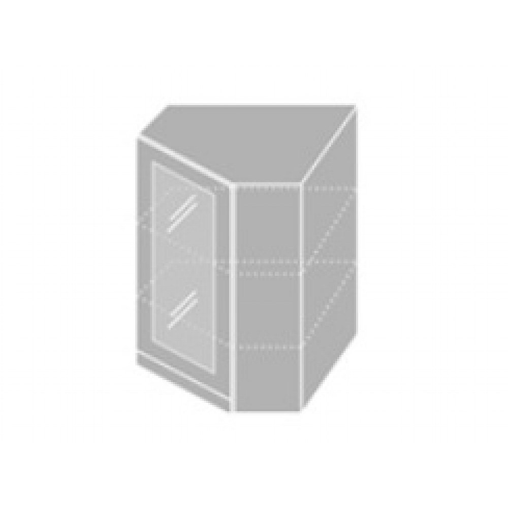 EMPORIUM, skříňka horní rohová prosklená W 10S/60, korpus: grey, barva: white