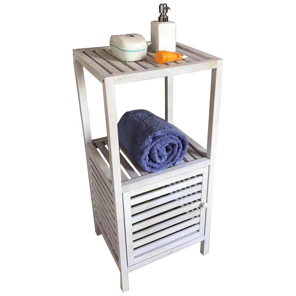 Regál Do Koupelny Classic White Wash