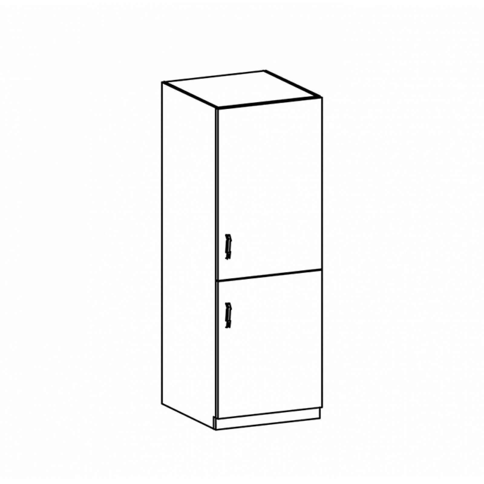 Vysoká skříňka PROVANCE D60R bílá / sosna andersen Tempo Kondela Pravé
