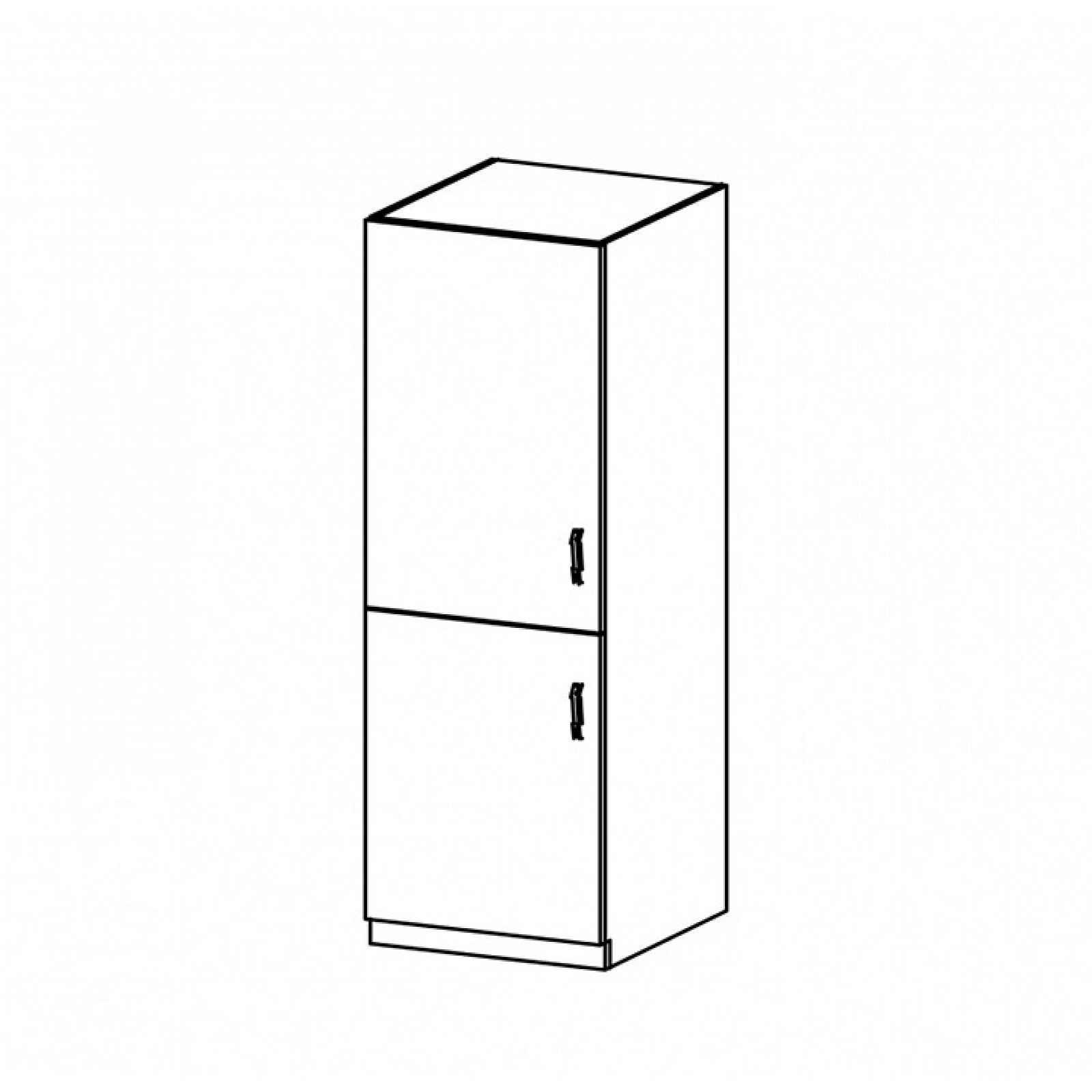 Vysoká skříňka PROVANCE D60R bílá / sosna andersen Tempo Kondela Levé