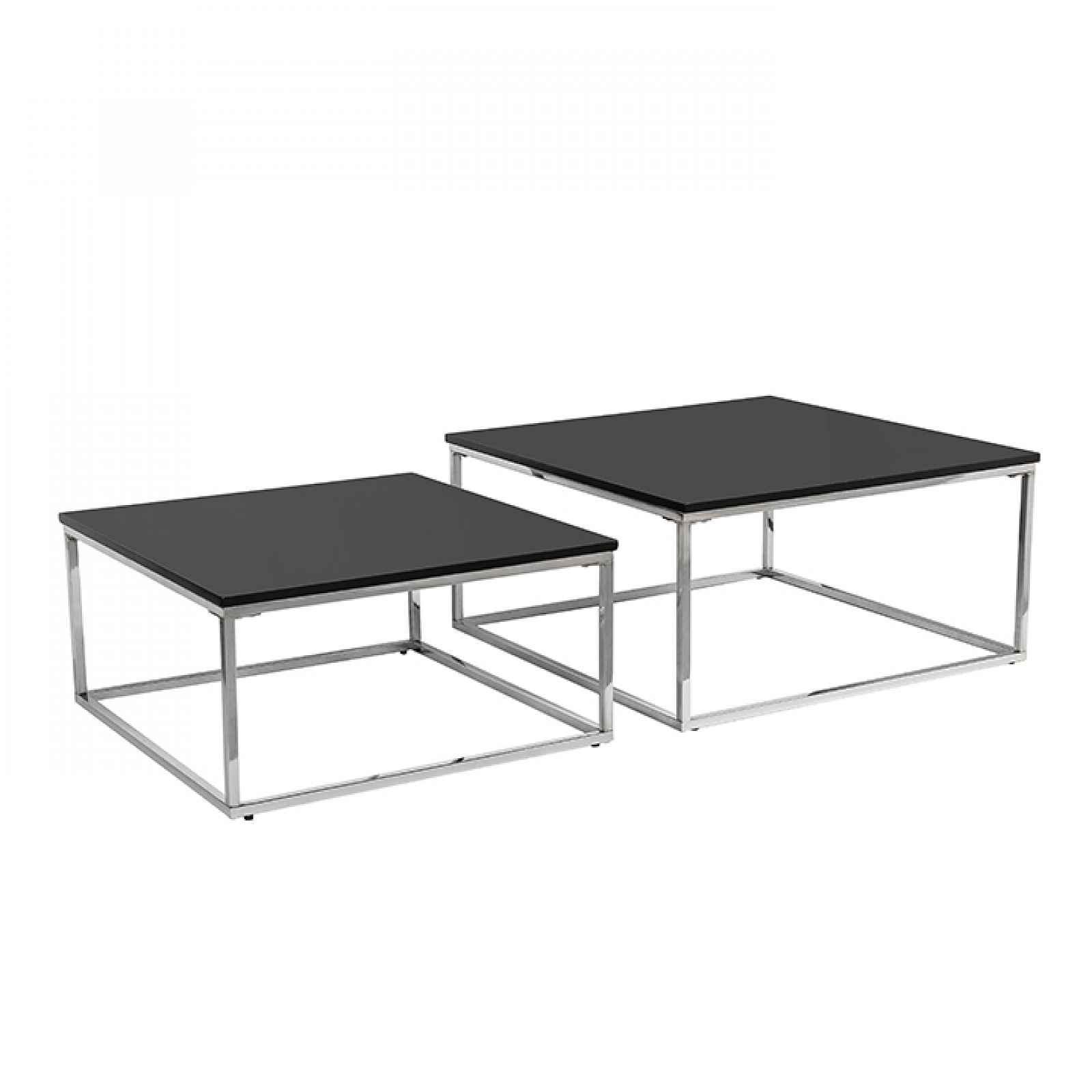 Set dvou konferenčních stolků, černá/chrom, AMIAS 0000240324 Tempo Kondela