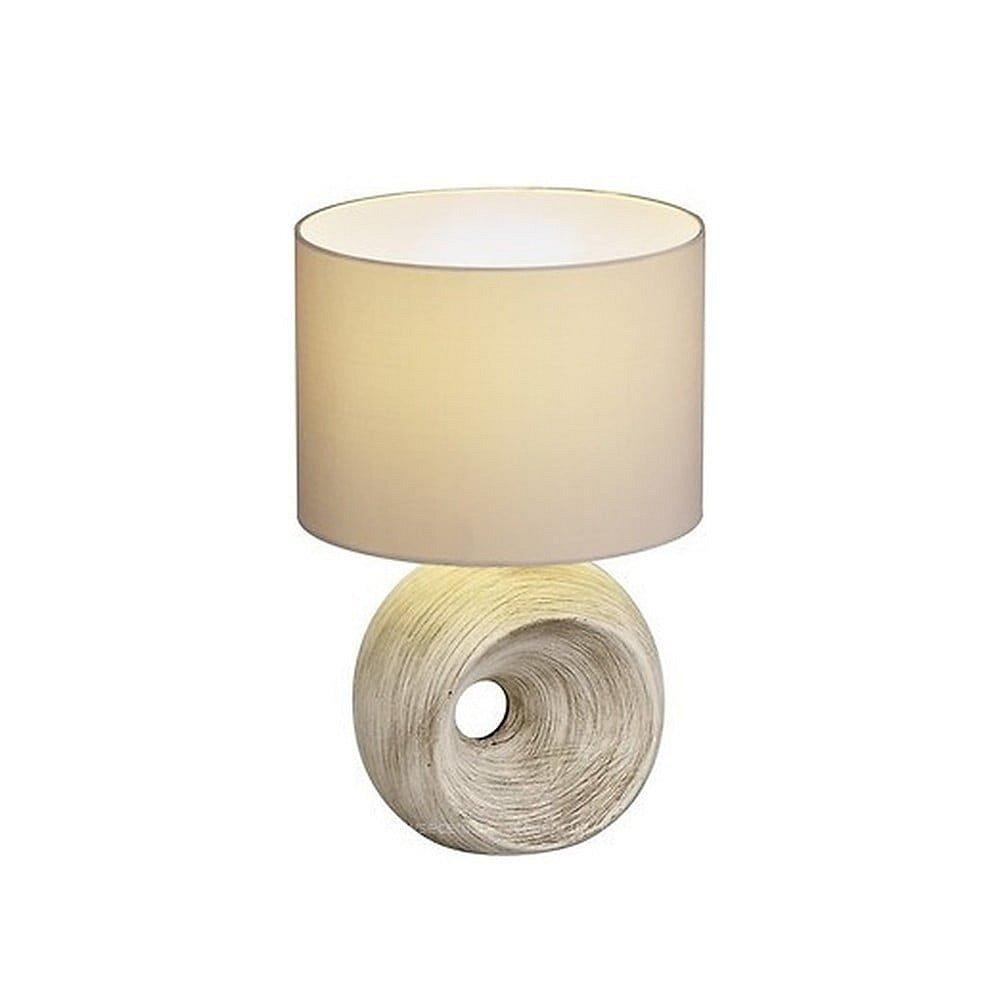 Béžová stolní lampa z keramiky a tkaniny Trio Tanta, výška 35 cm