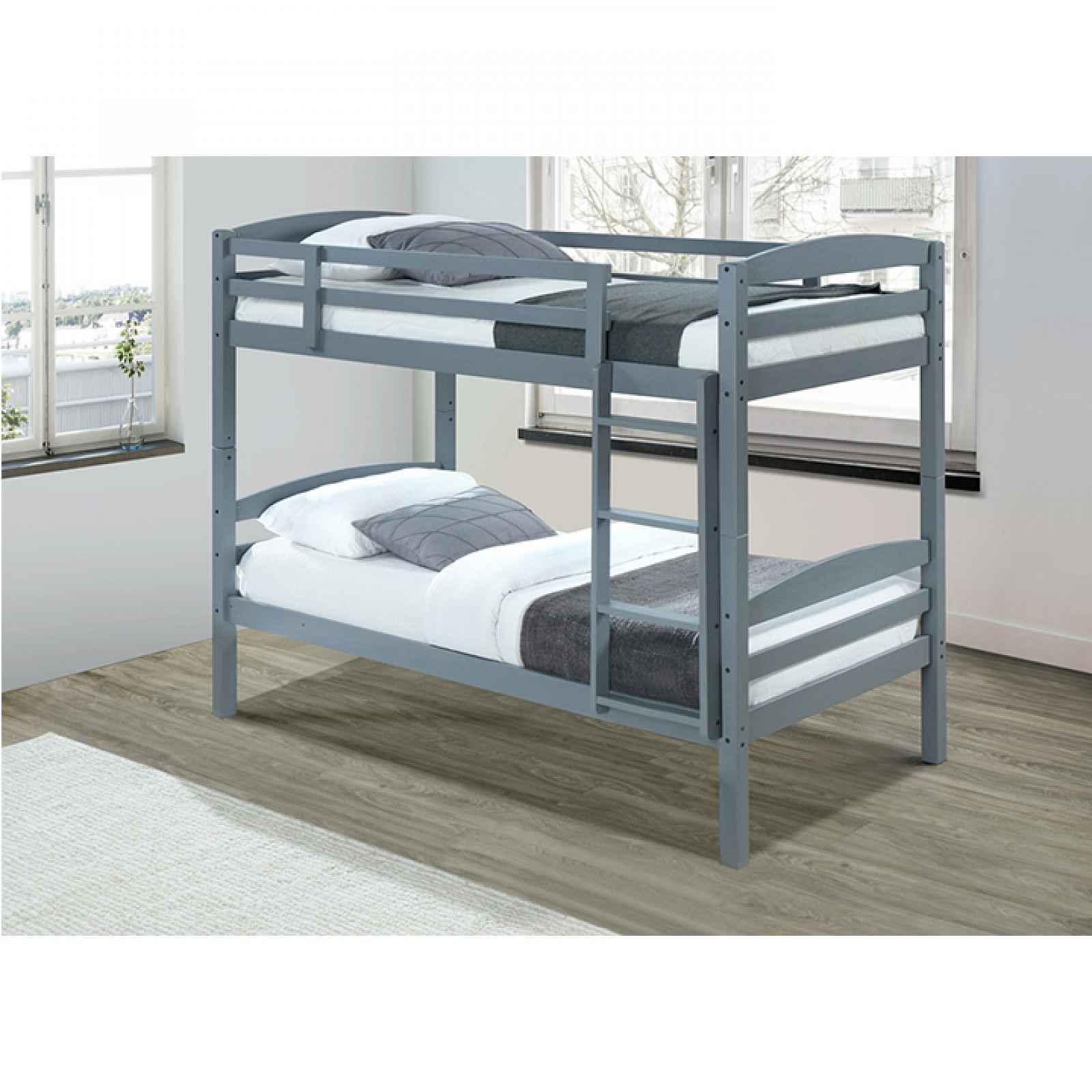 Patrová postel, 90x200 cm, masivní dřevo, FORKOLA 0000240367 Tempo Kondela