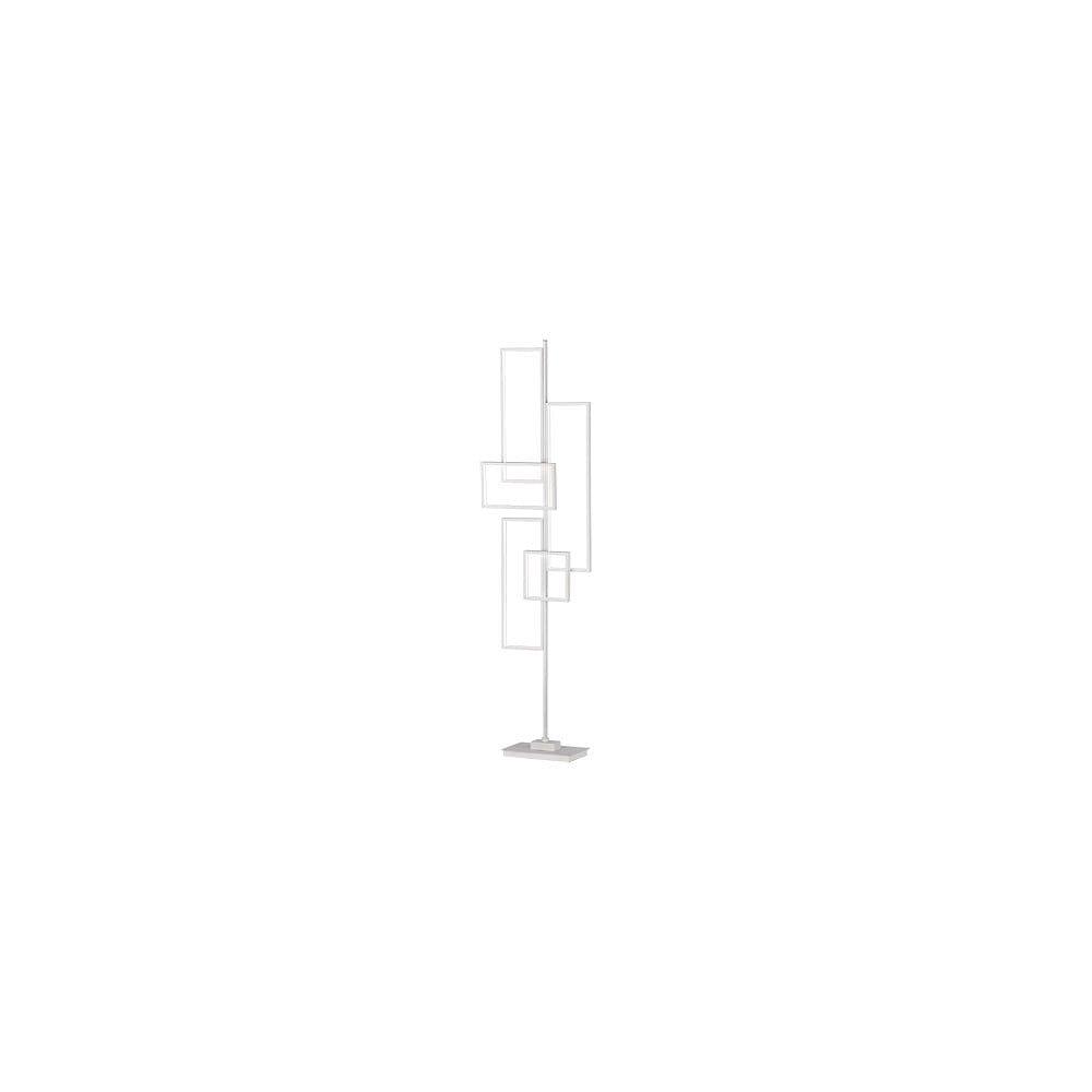 Bílá kovová stojací LED lampa Trio Tucson, výška, 161 cm