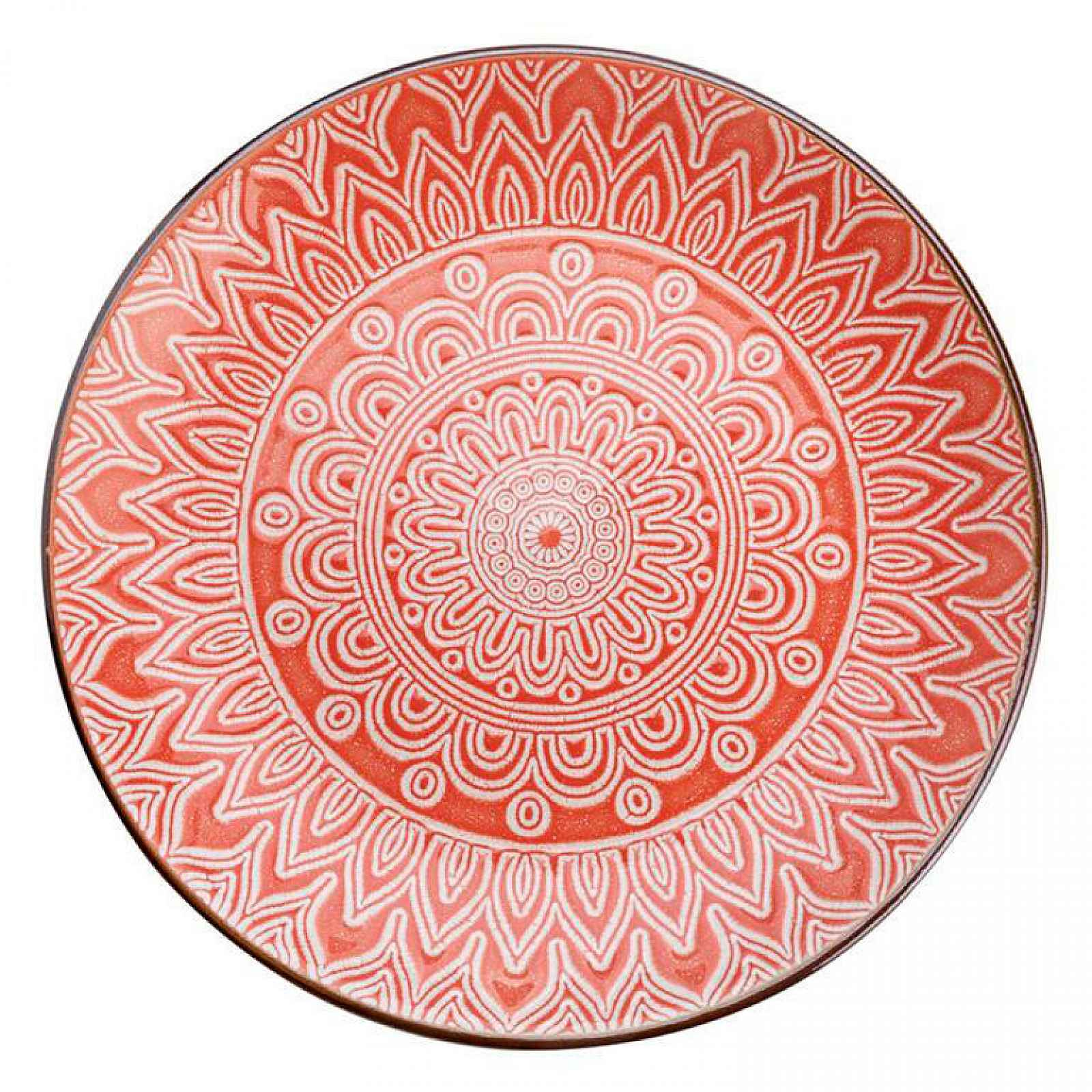 Florentyna Florina Keramický dezertní talíř Maroko 20 cm, korálová