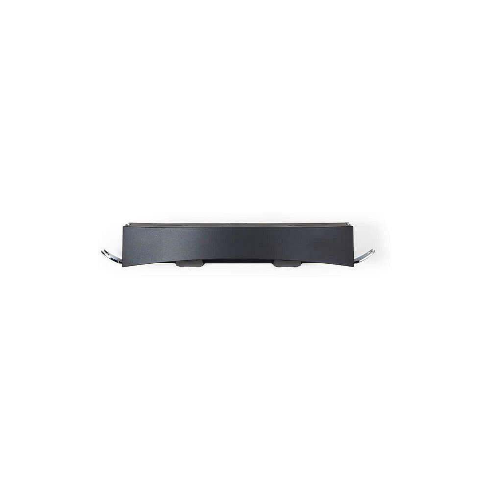 Černá nástěnná samodržící polička Compactor Clever Flip Shower Shelf