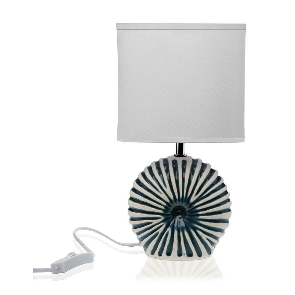 Bílá stolní keramická lampa Versa Thomas