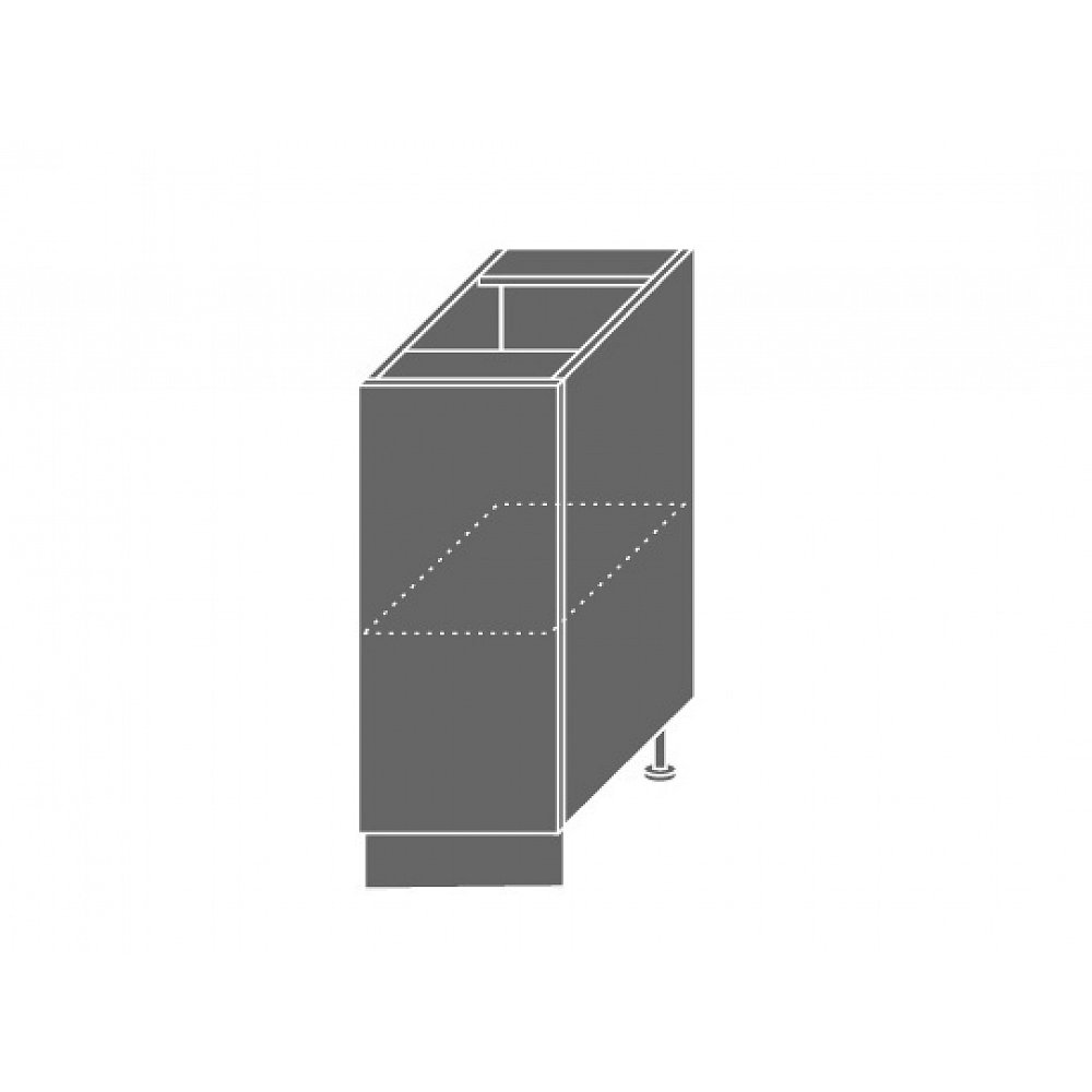 SILVER+, skříňka dolní D1d 30, korpus: bílý, barva: latte