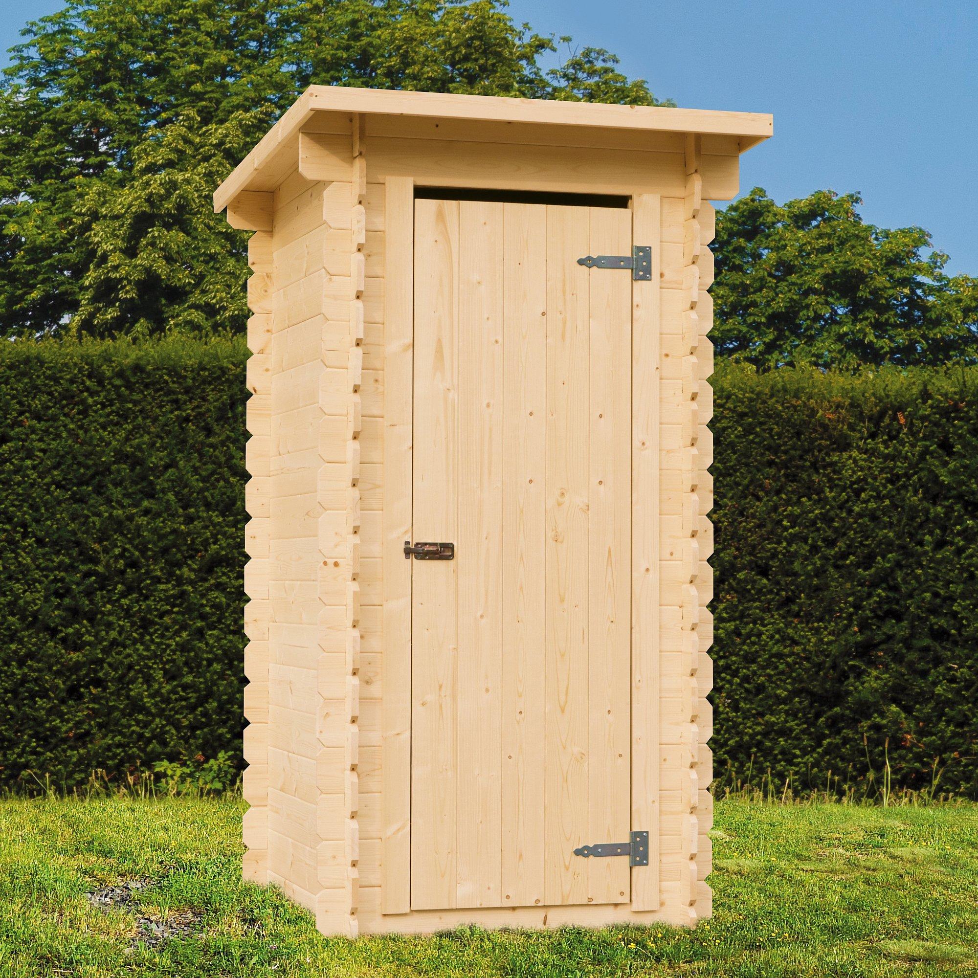 Zahradní WC KLO severský smrk 880×960×2030 mm