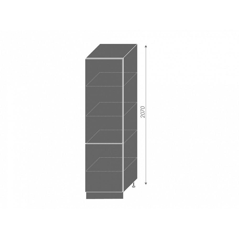 SILVER+, potravinová skříň D14DP 60, korpus: grey, barva: sonoma