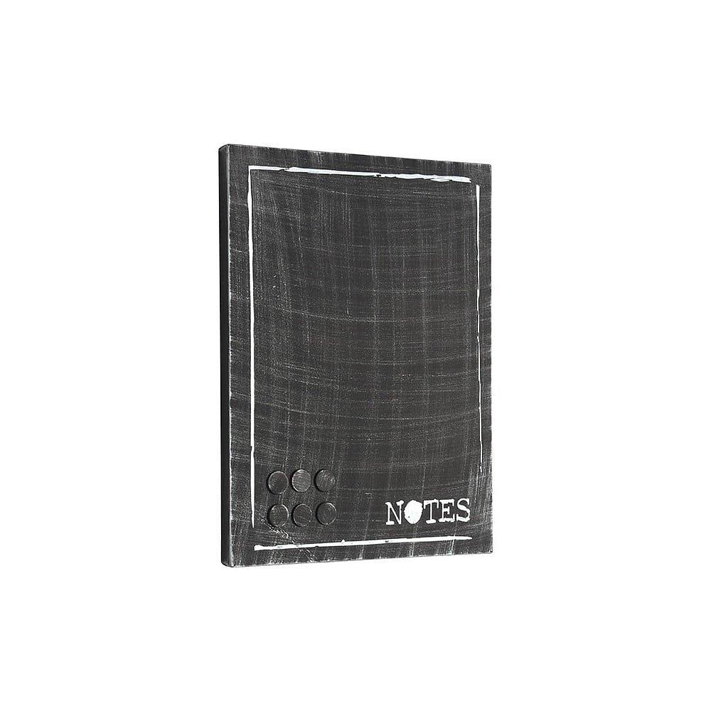 Černá kovová nástěnka na vzkazy LABEL51 Memo