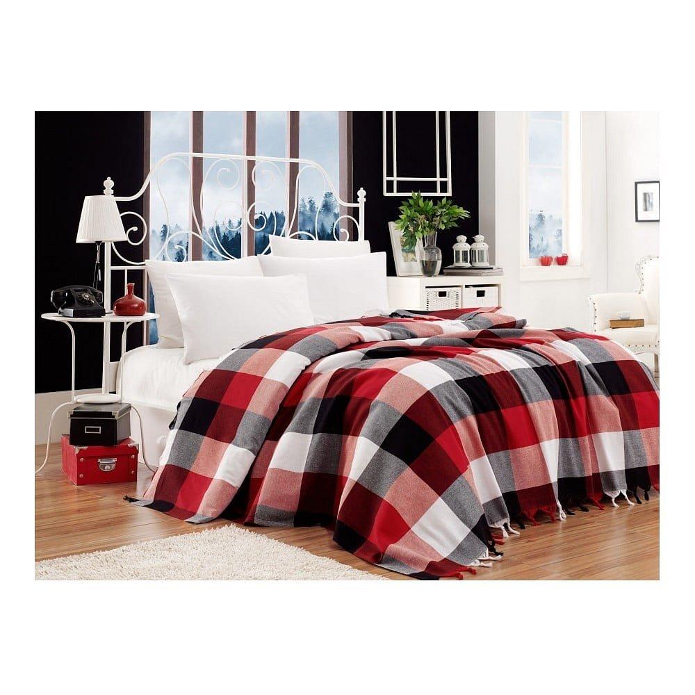 Bavlněný přehoz přes postel na dvoulůžko Single Pique Kicho, 200 x 240 cm