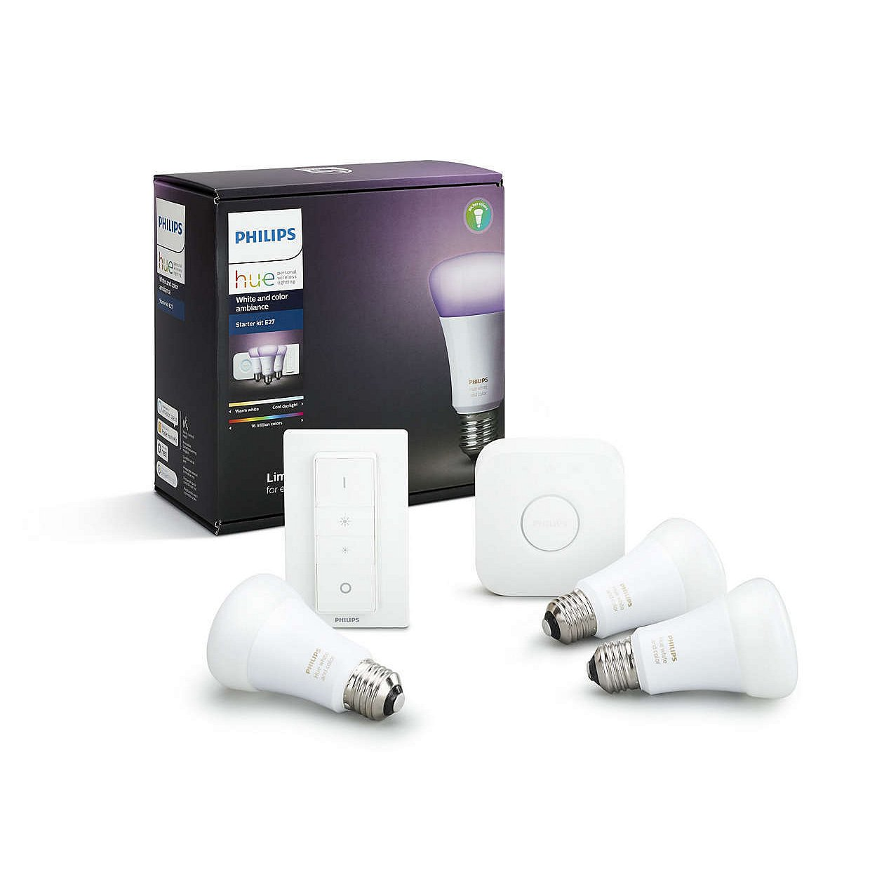 Startovací sada Philips Hue white and color ambiance 3×E27