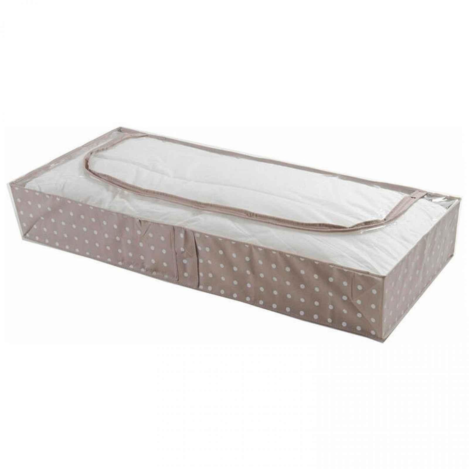 Compactor Nízký textilní úložný box Rivoli 107 x 46 x15 cm hnědý