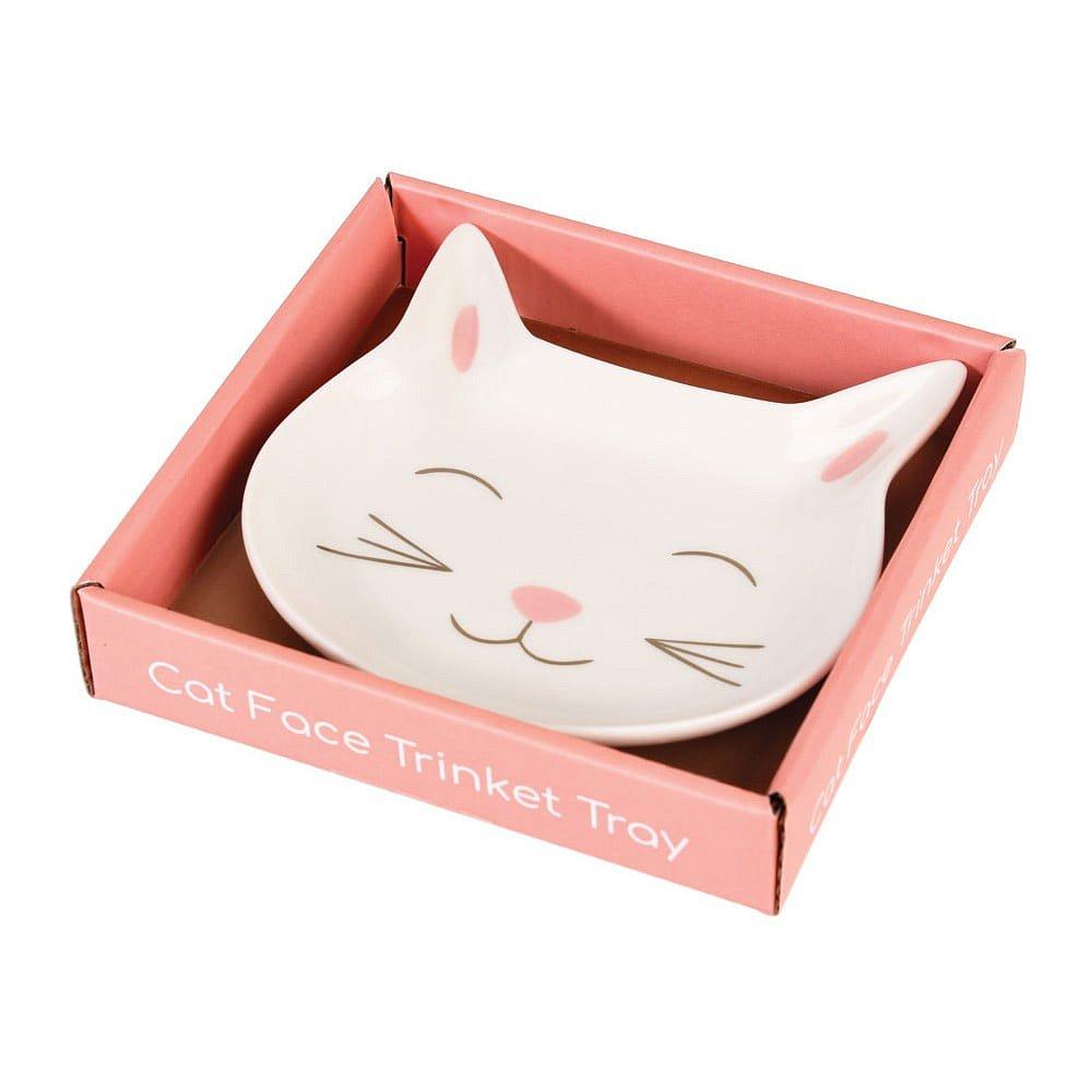 Ozdobný porcelánový talířek Rex London Cat Face
