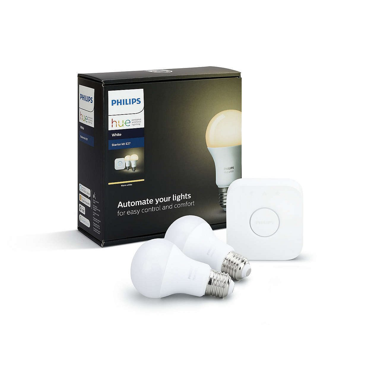 Startovací sada Philips Hue white 2×E27 + bridge