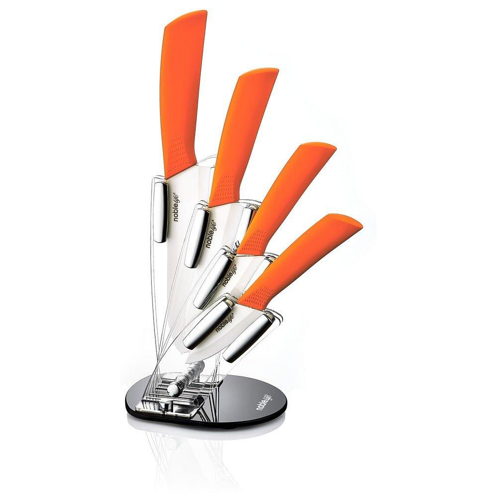 Set 5 keramických kuchyňských nožů se stojanem Ypatios
