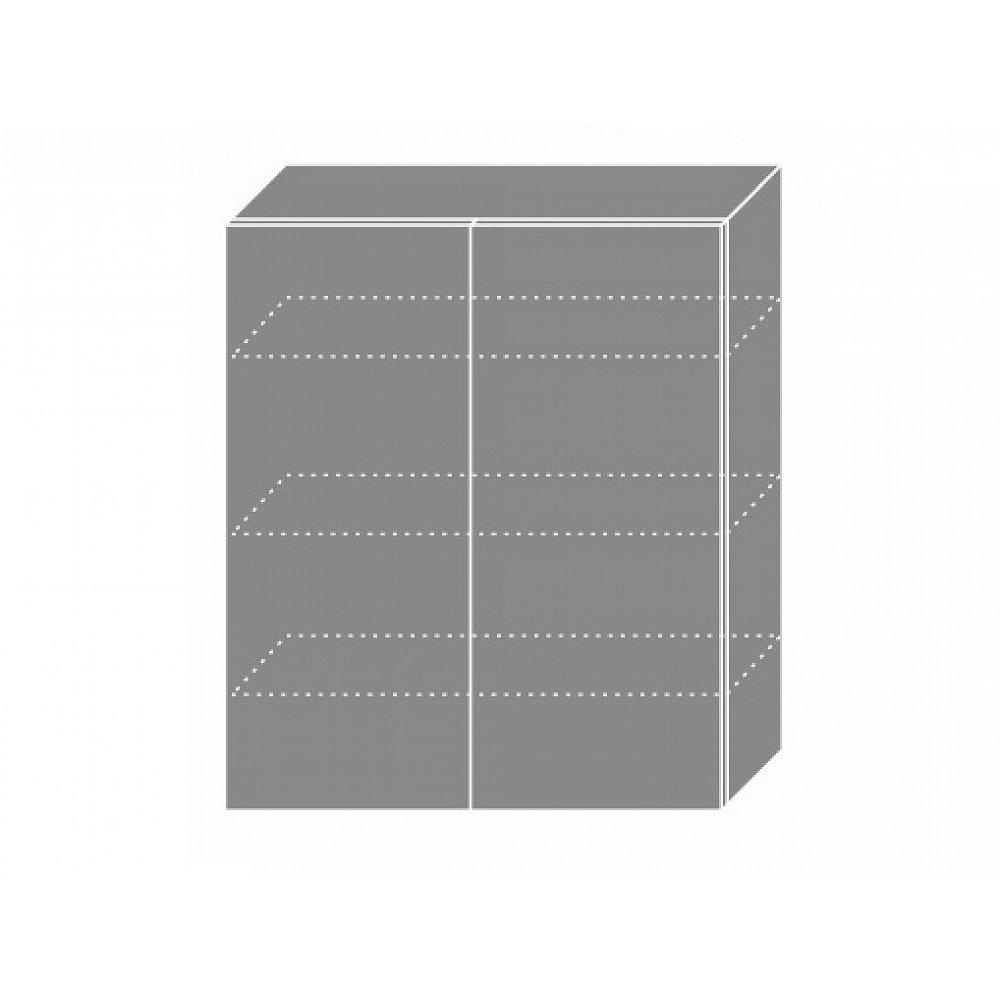 TITANIUM, skříňka horní W4 80, korpus: bílý, barva: fino černé