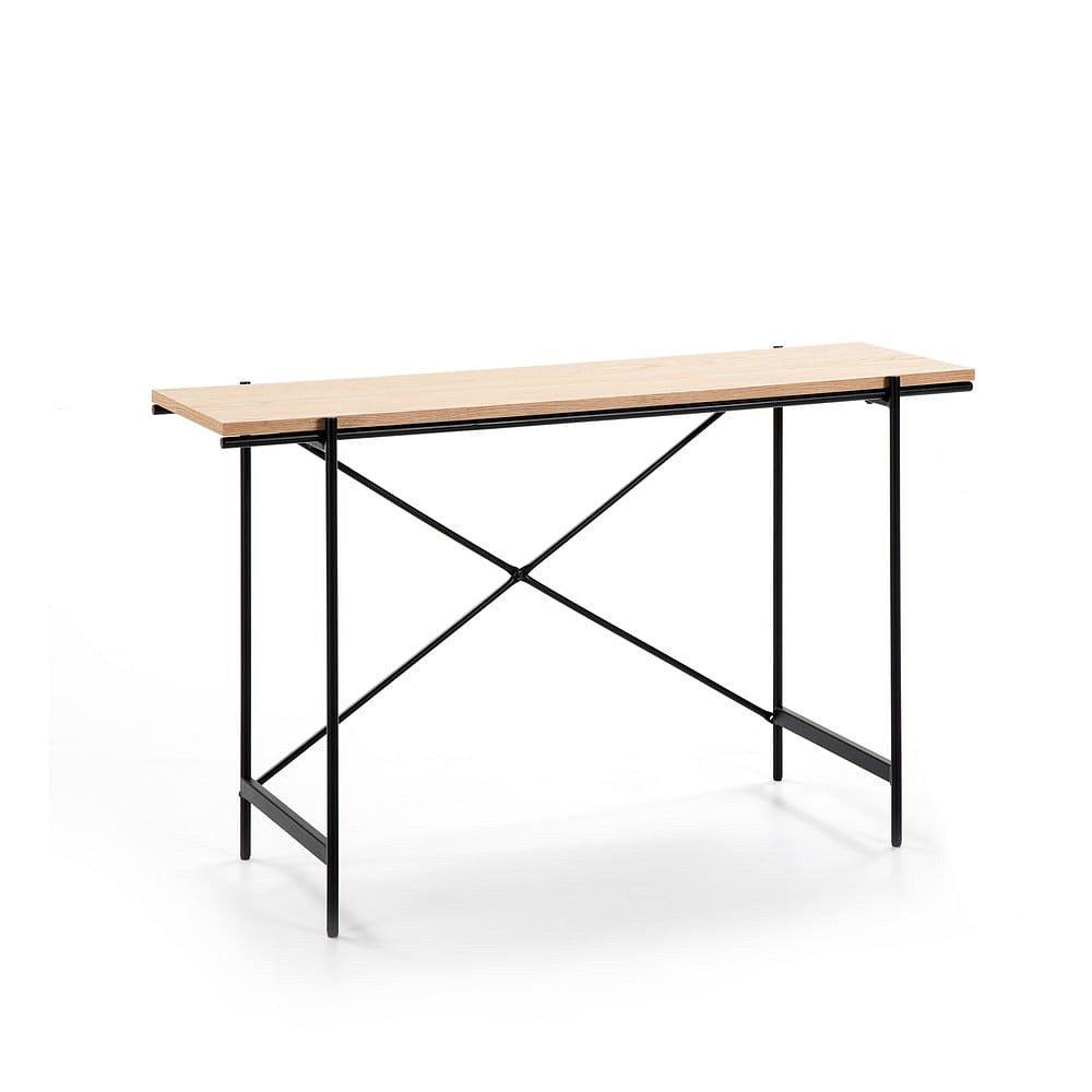 Konzolový stolek v dekoru dubového dřeva Marckeric Amina
