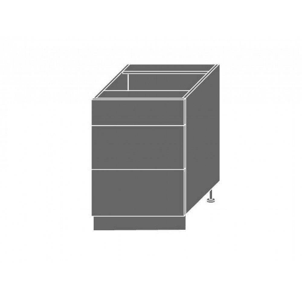 SILVER+, skříňka dolní D3m 60, korpus: lava, barva: latte