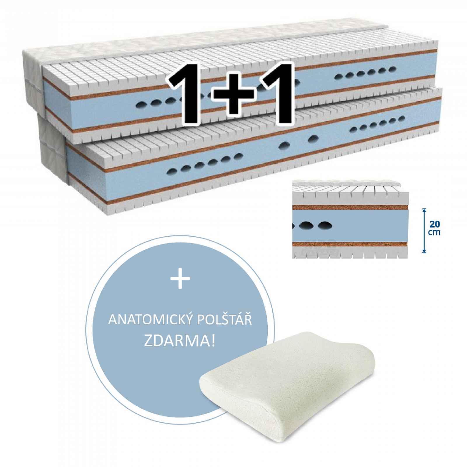 MPO Matrace Matrace 1+1 MAXIMA 2 ks 180 x 200 cm Potah matrace: Aloe Vera - výtažky s Aloe Vera