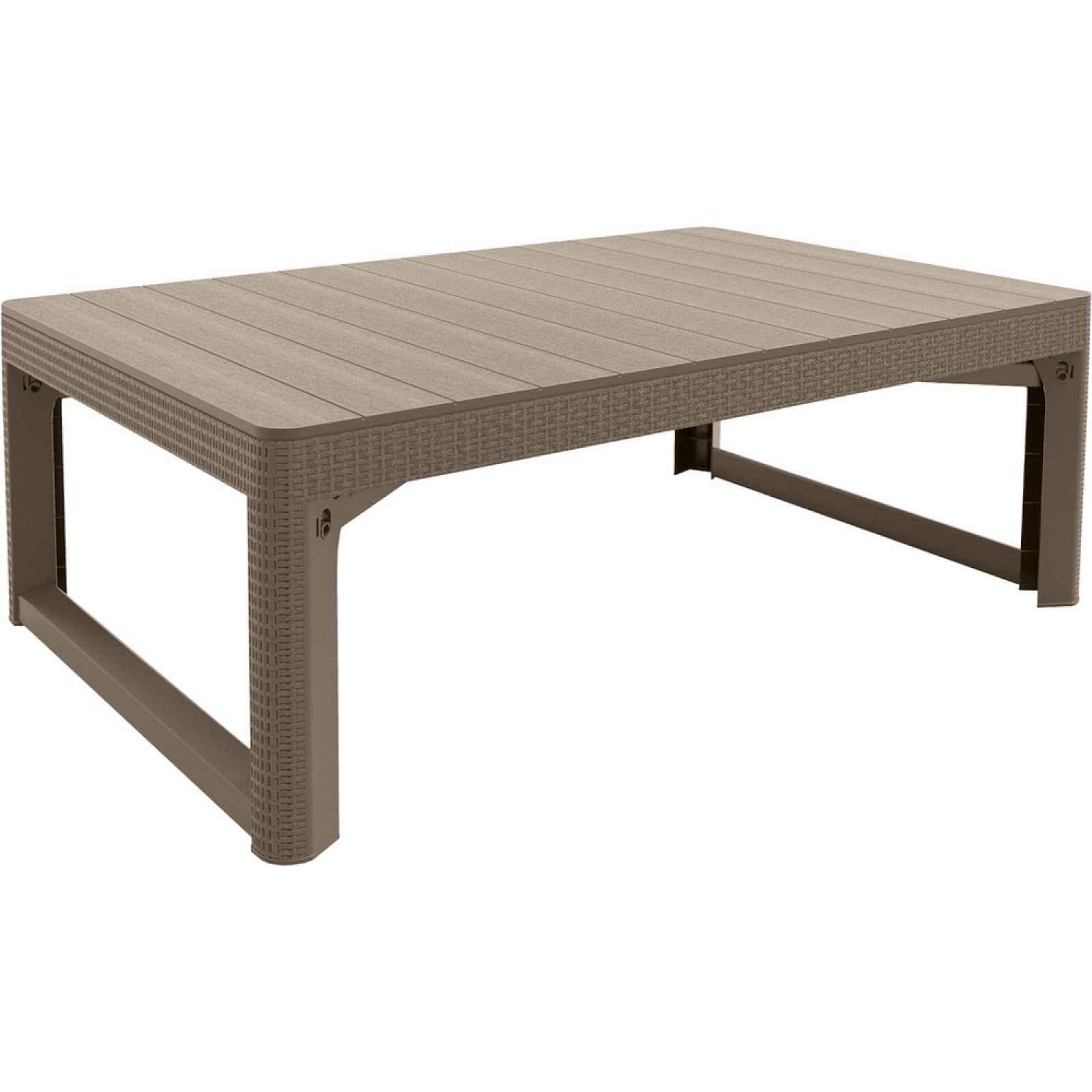 stůl LYON rattan - Allibert Cappuccino