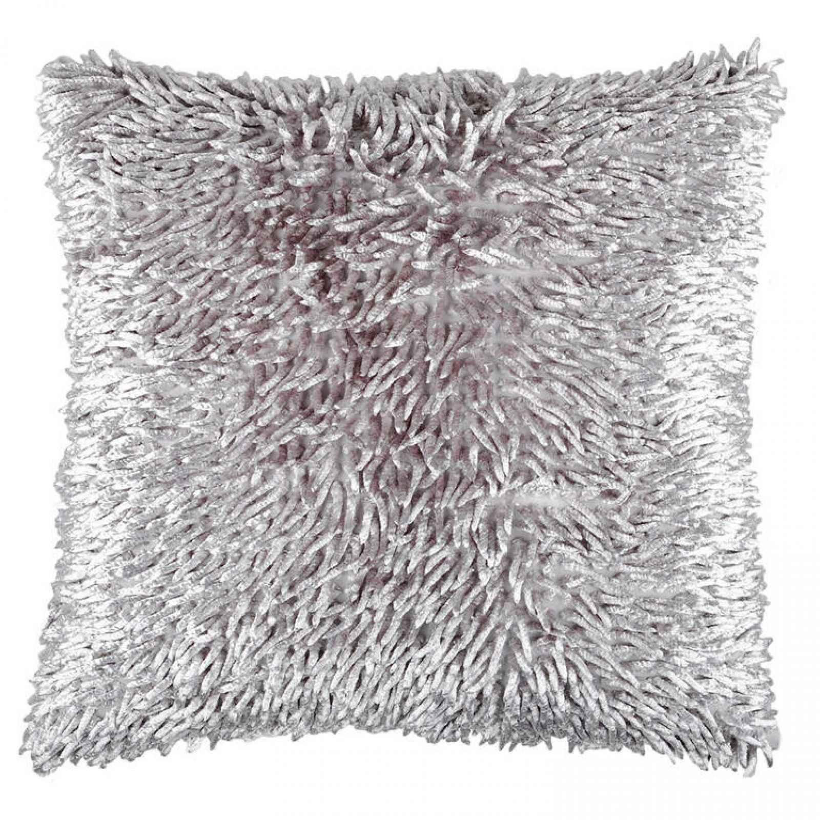 Dekorační polštářek SHAGGY šedá 40 x 40 cm