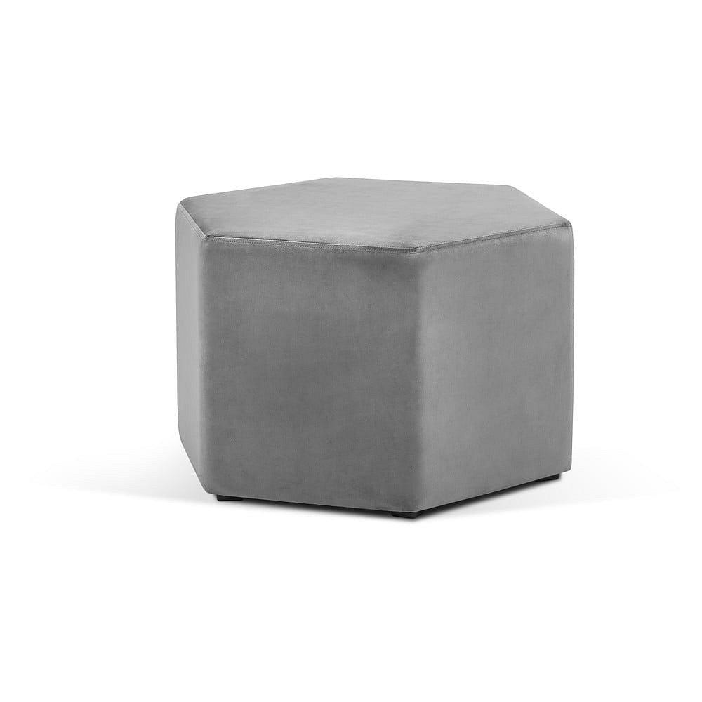 Světle šedý puf Milo Casa Marina, ⌀60cm