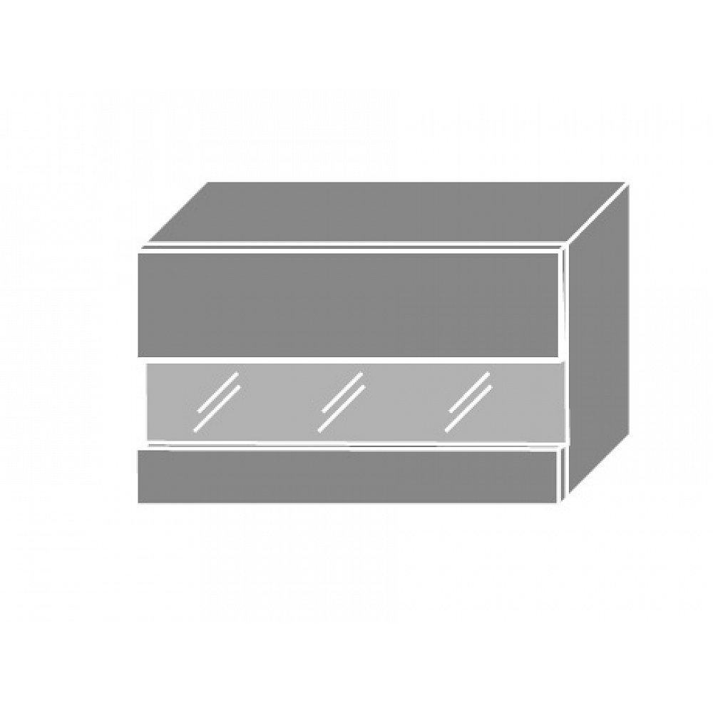 SILVER+, skříňka horní prosklená W4bs 60 LAM, korpus: grey, barva: sonoma