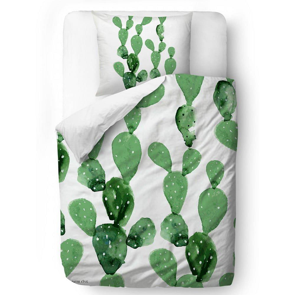 Povlečení z bavlněného saténu Butter Kings Cactus Watercolour, 200 x 200 cm
