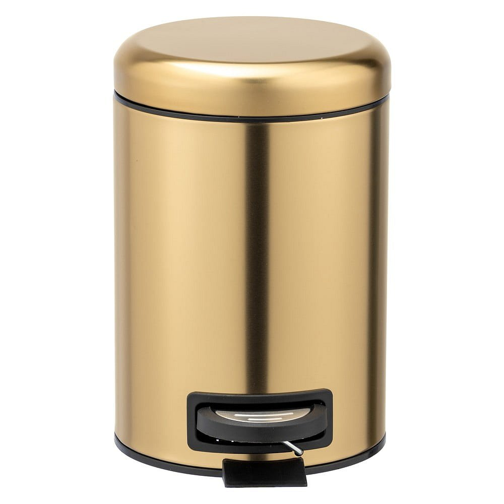 Odpadkový koš do koupelny z nerezové oceli ve zlaté barvě Wenko