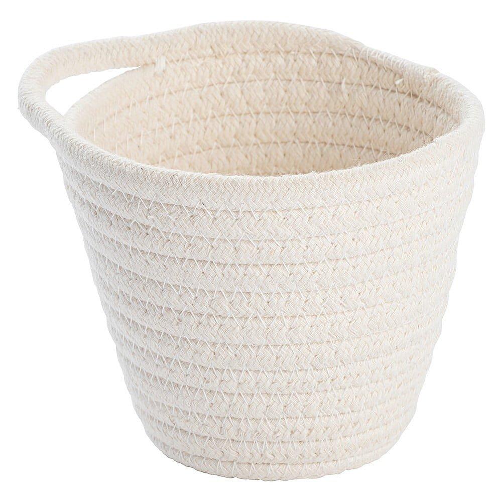 Bílý závěsný úložný košík Wenko